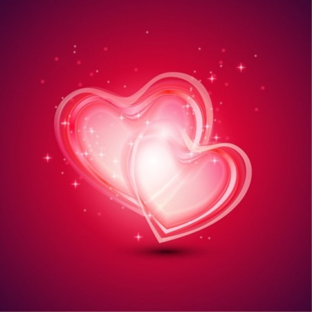 Glowing Hearts Picture