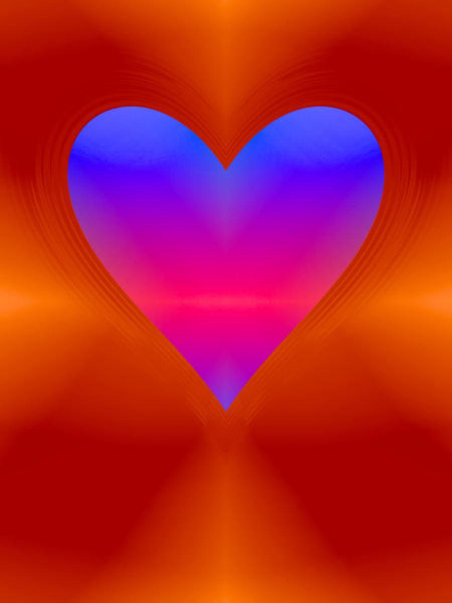 Iridescent Blue Heart Image