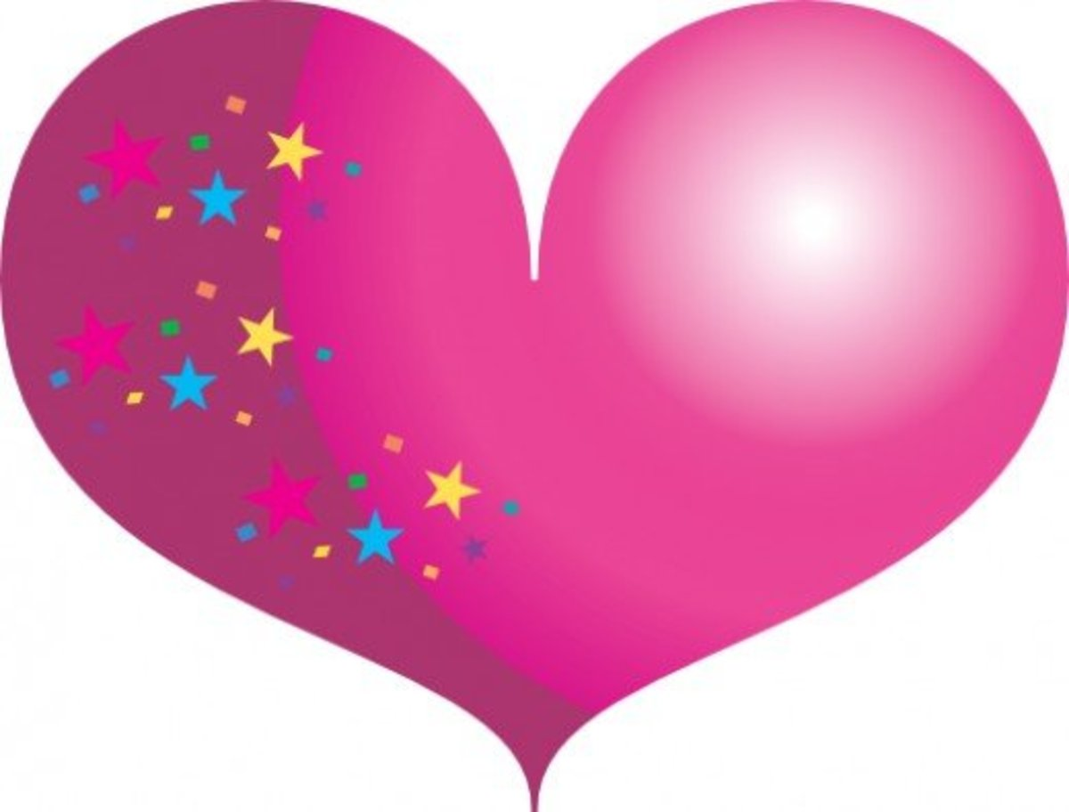 Pink Heart with Stars Picture