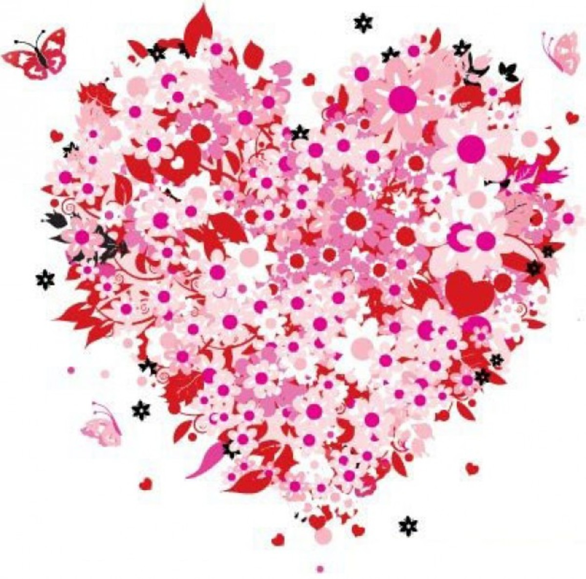 Hearts and Flowers Graphic
