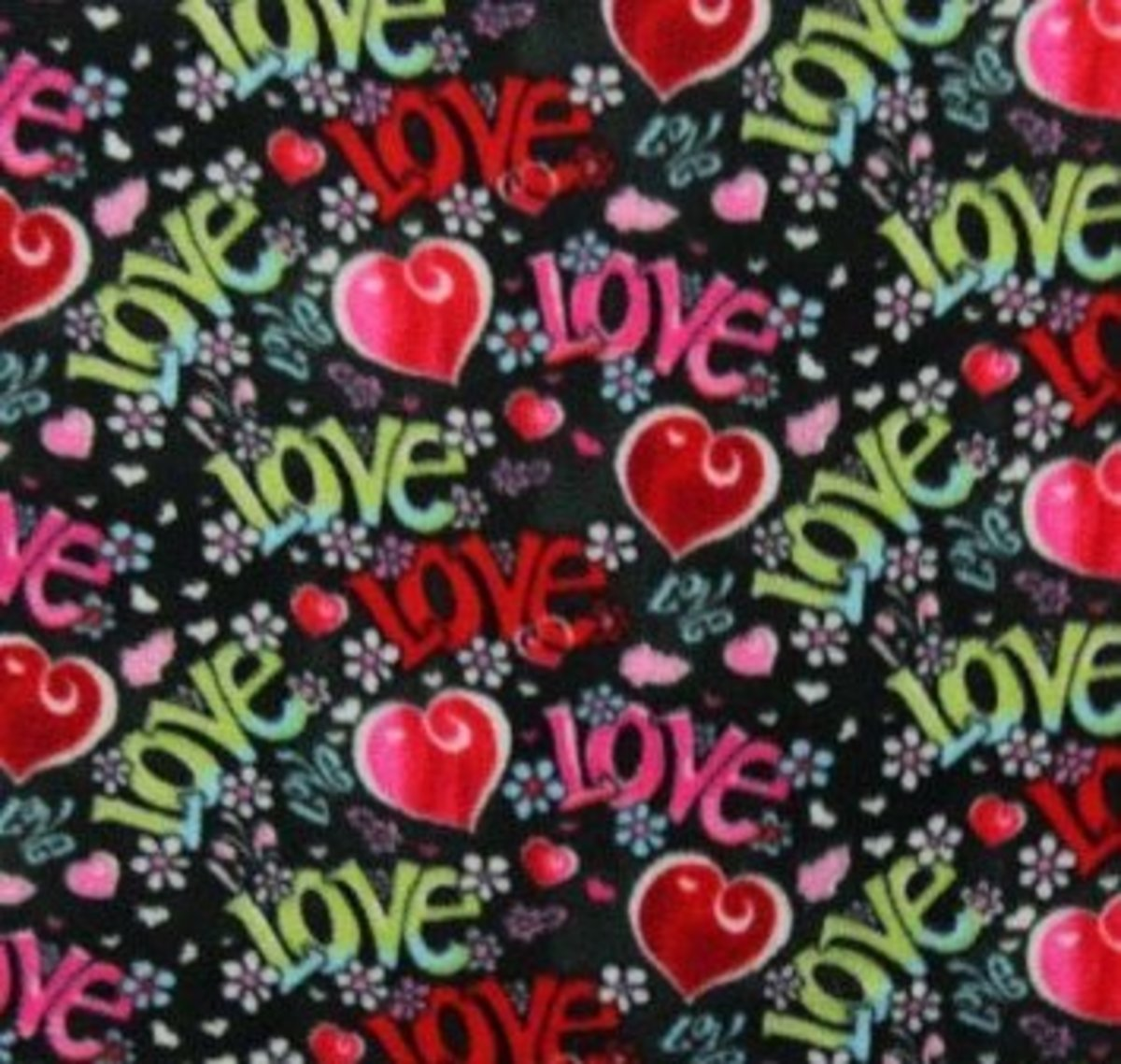 Love Hearts Fabric Photo