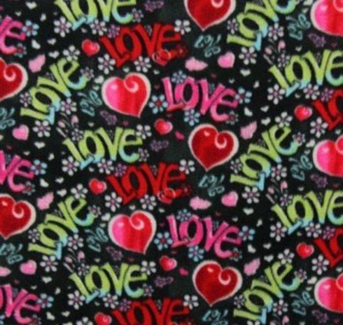 Love Hearts Fabric Photo