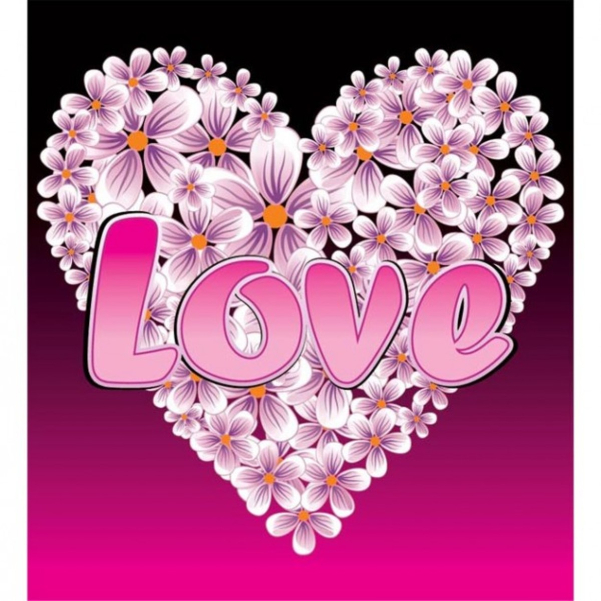 Love and Flower Heart Picture
