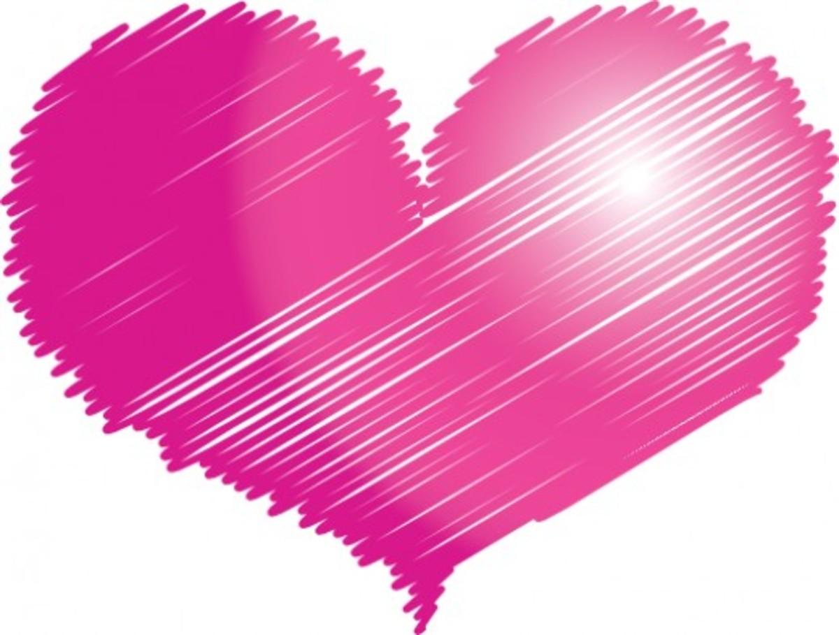 Pink Heart Sketch