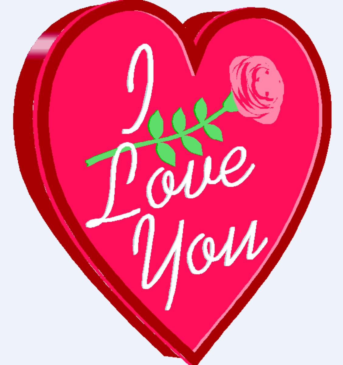 I Love You Heart Sketch