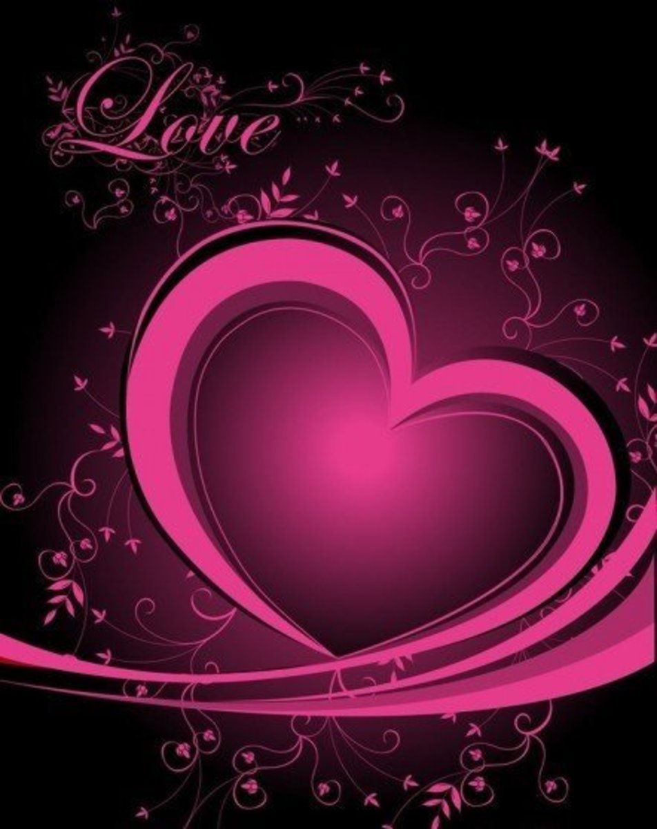 Love and Pink Heart Picture