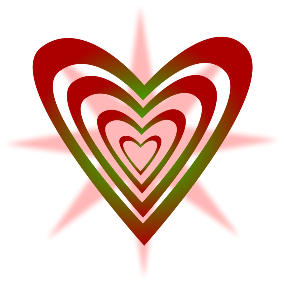 Picture of Red and Green Hearts
