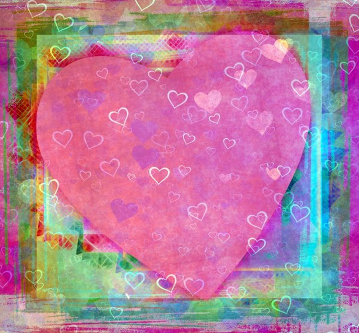 Pink Hearts Picture