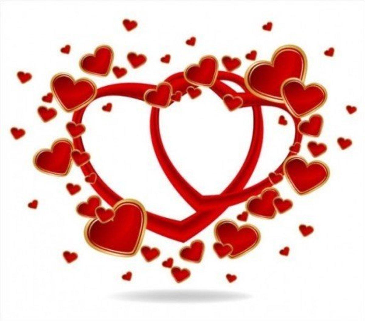 Interlocking Red Hearts Picture