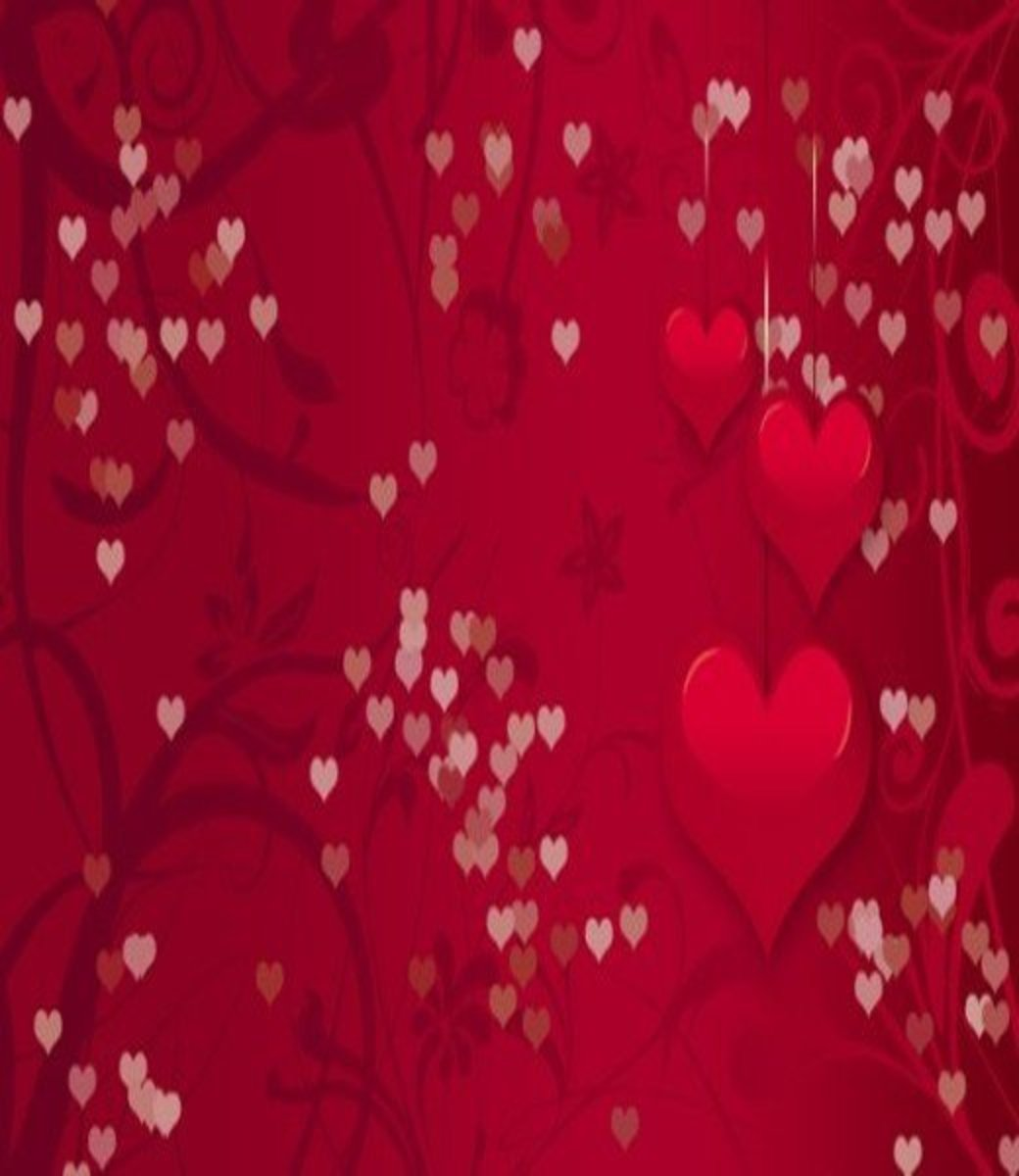 Floating Red Hearts Pictures