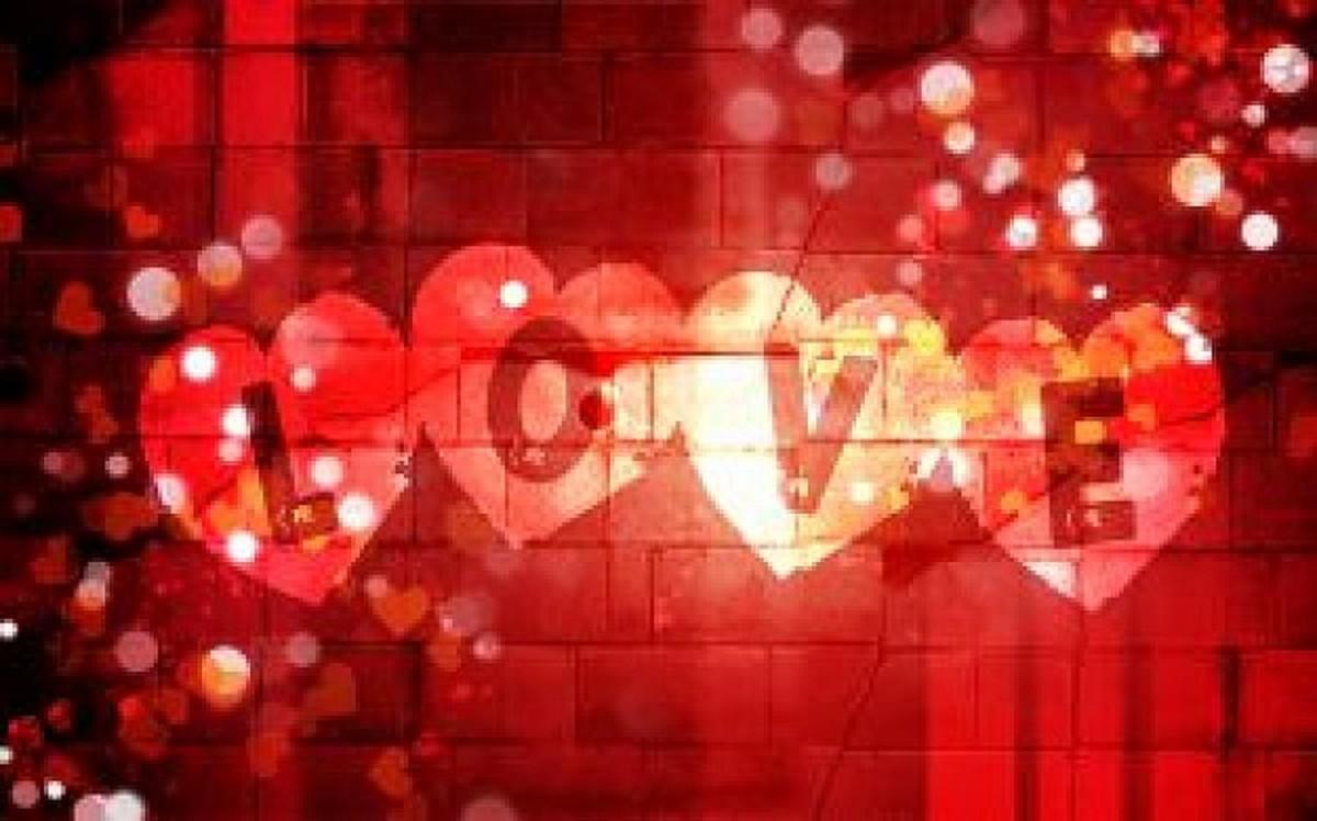 Love Hearts in Lights Photo