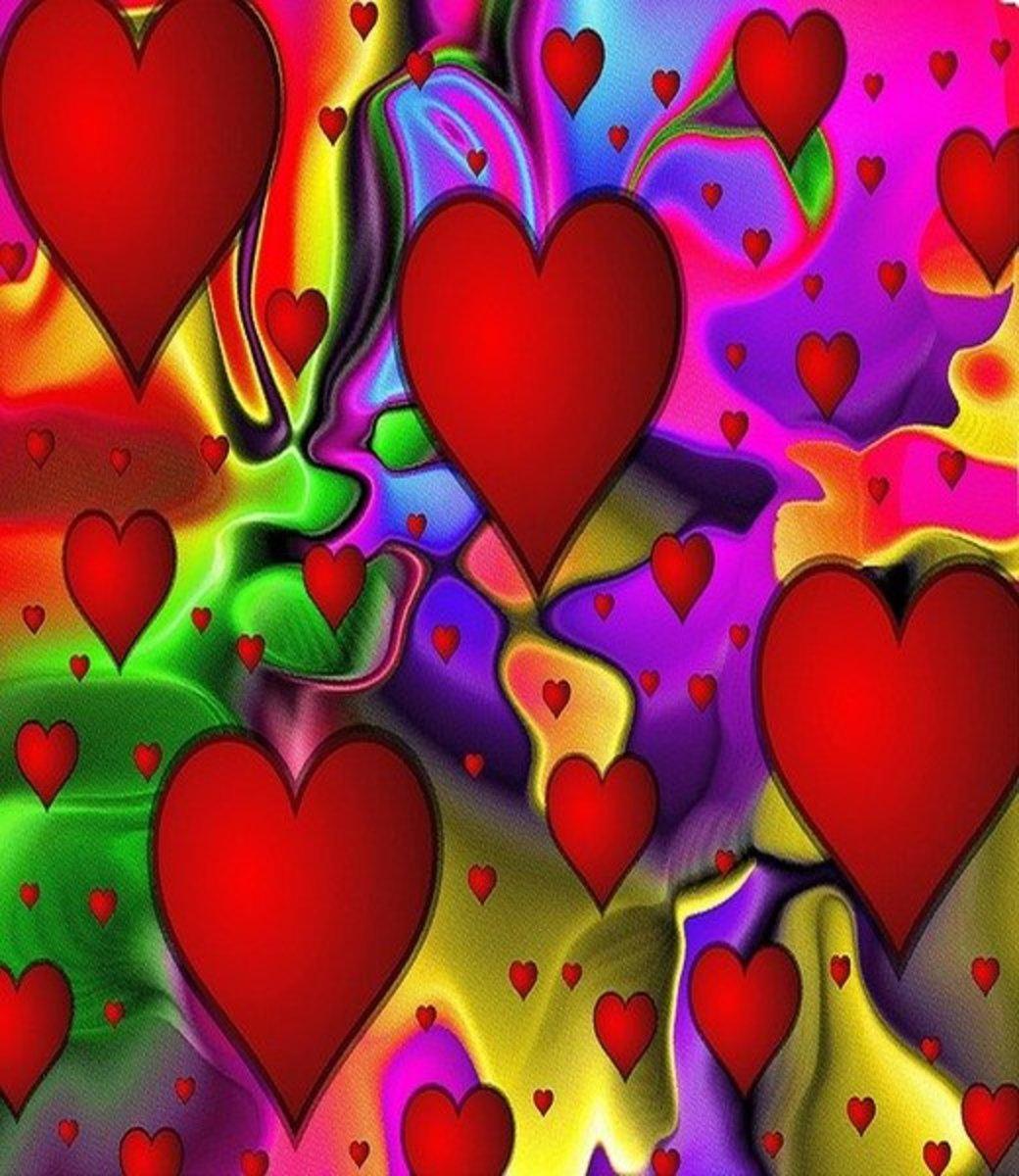 Multicolor Hearts Collage