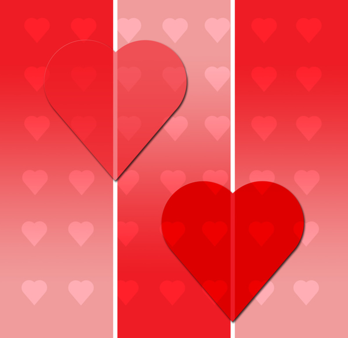 Red Hearts Image