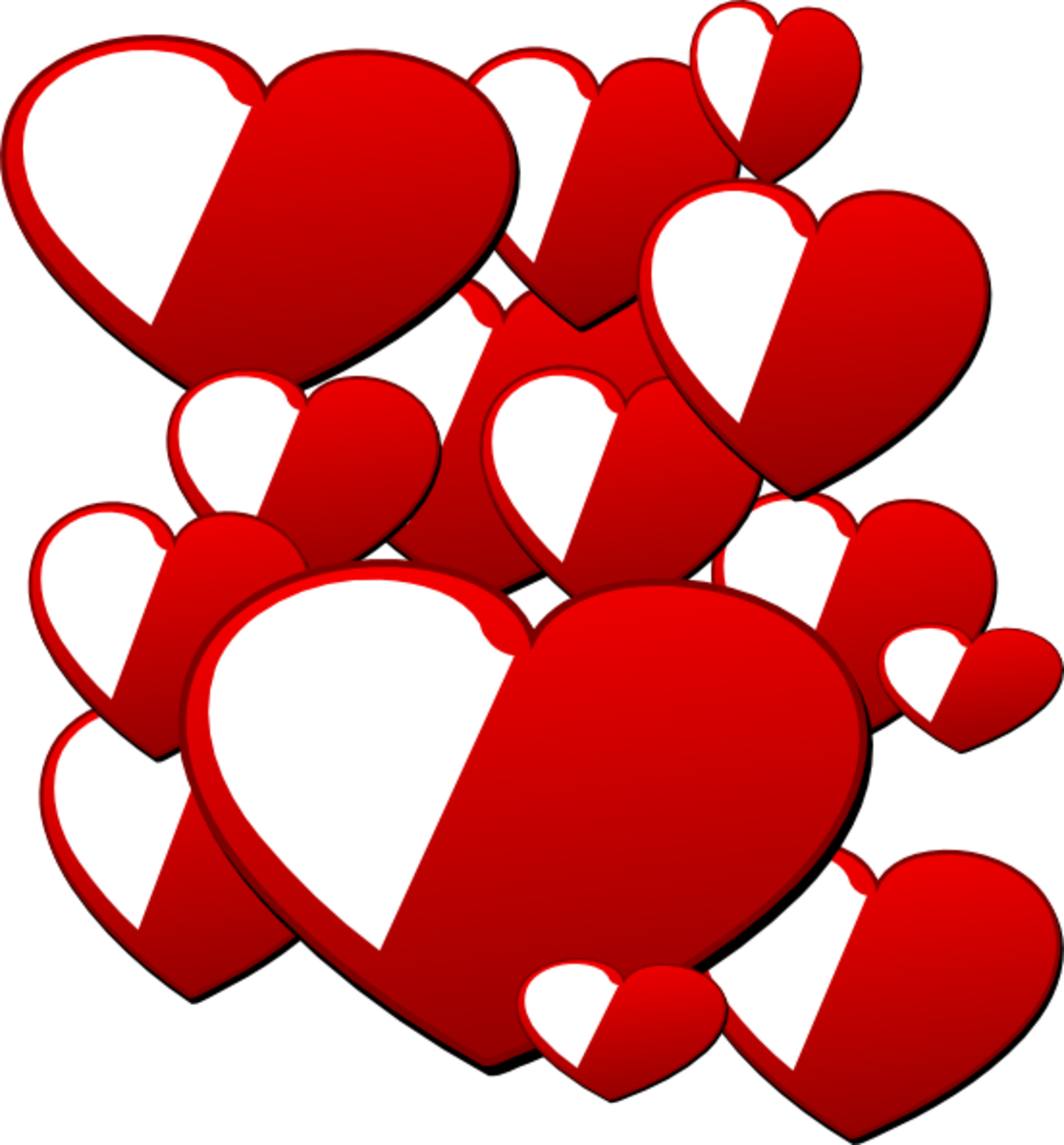 Hearts Pop Art