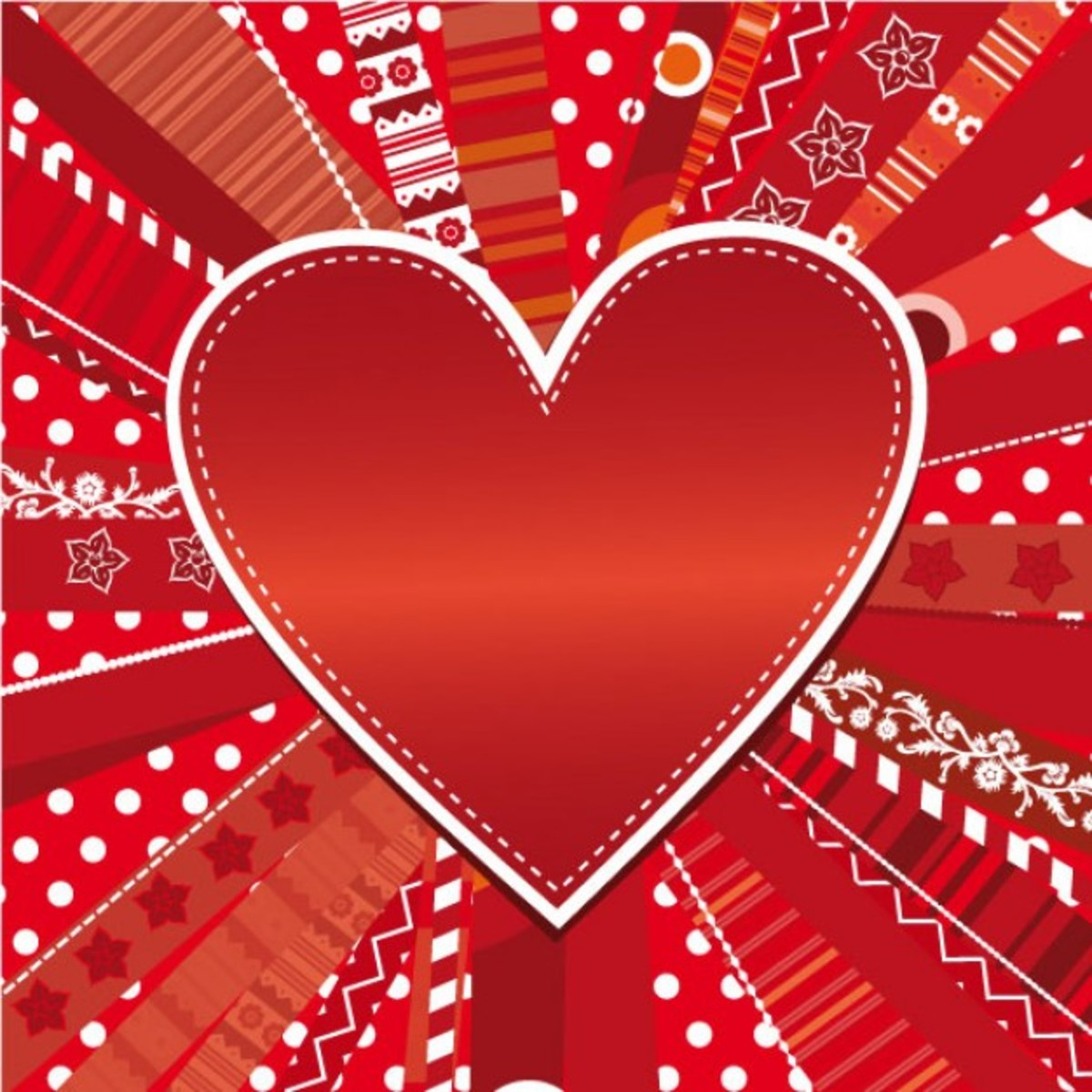Country Red Heart Picture