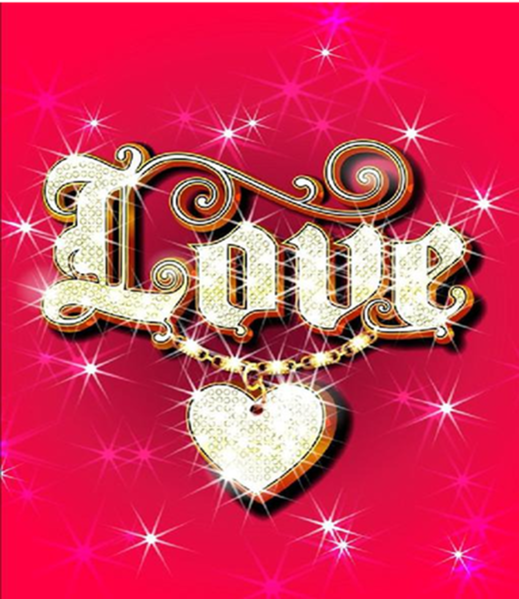 Love and Heart Graphic
