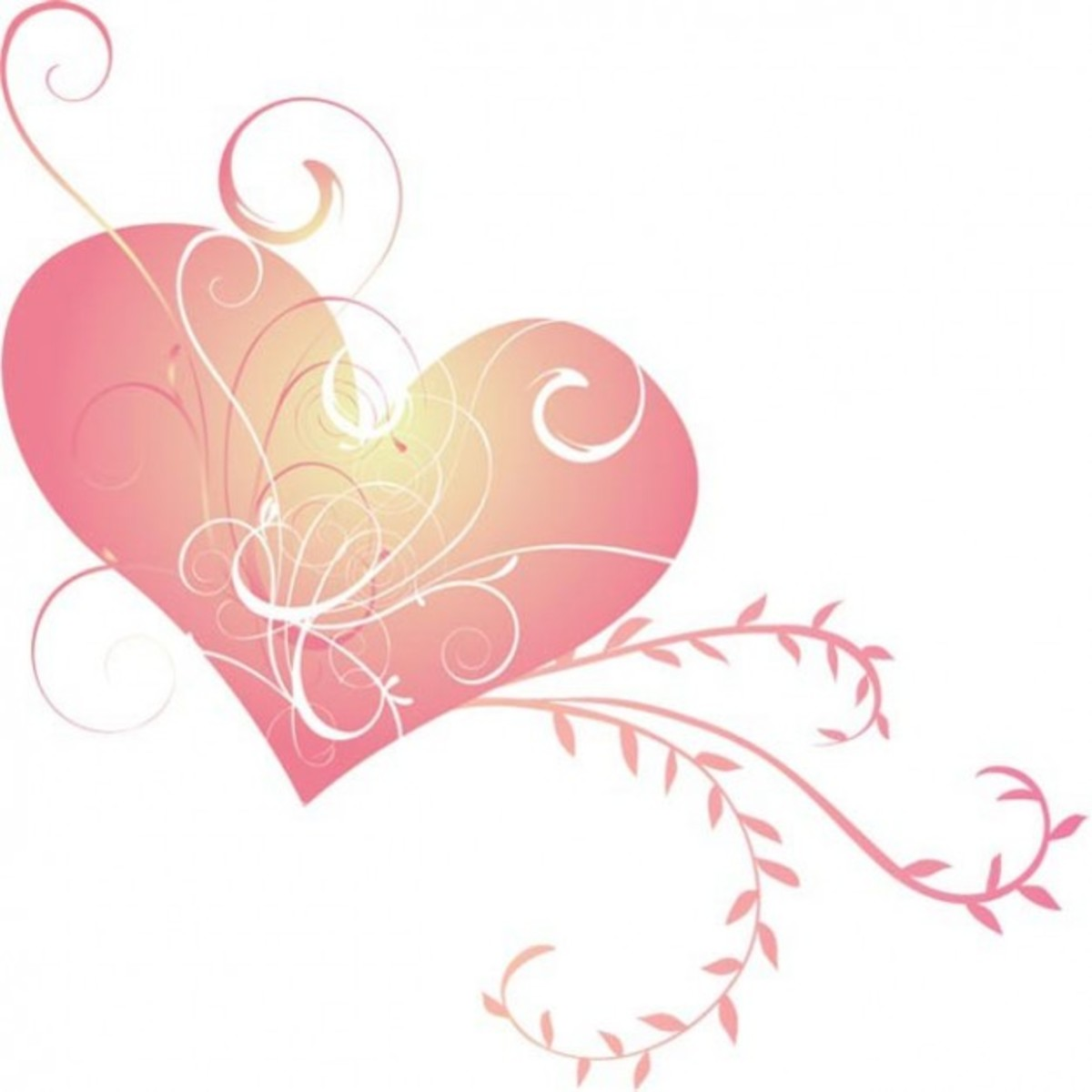 Pink Heart with Scrolling Image