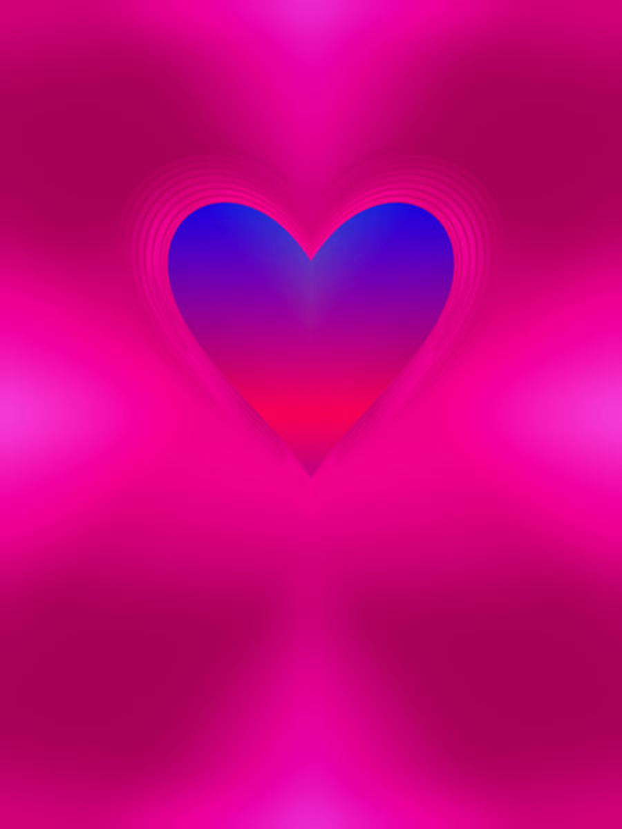 Blue and Red Heart Image