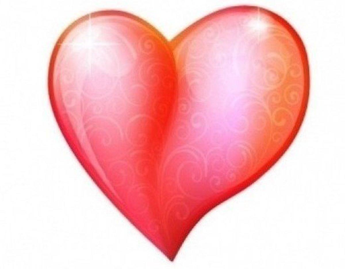 Single Vermilion Heart Picture