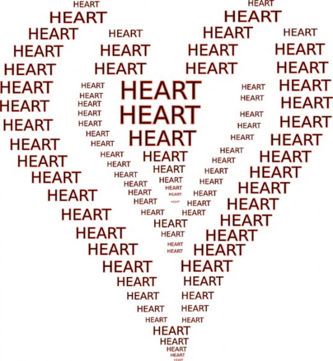 Word Heart Pattern