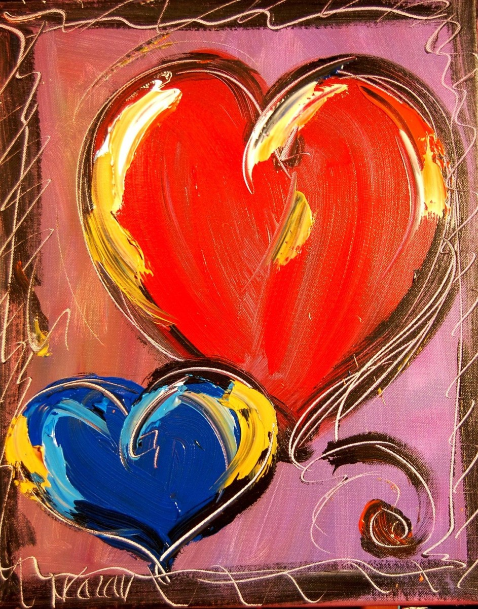 Hearts Oil Painting