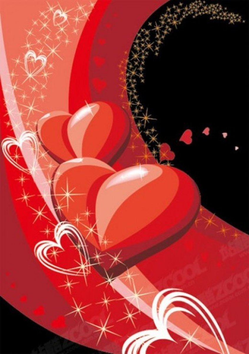 Red and White Hearts Image
