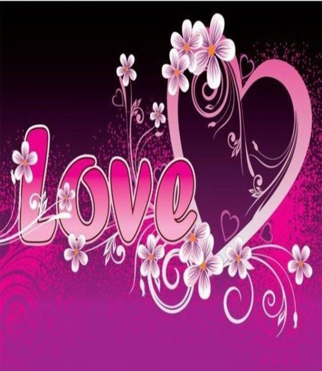 Pink Love Heart Picture