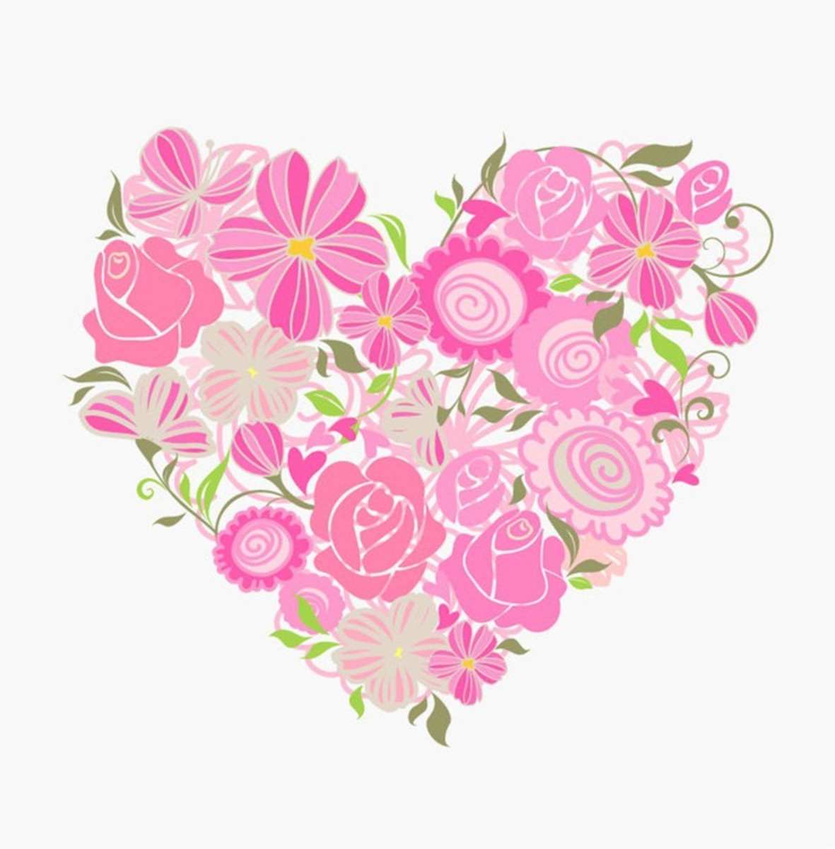 Heart Made with Pink Flowers