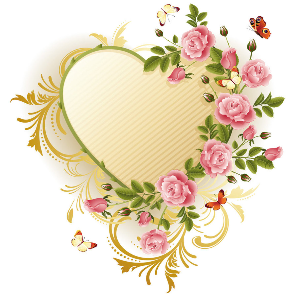 Heart and Flowers Picture