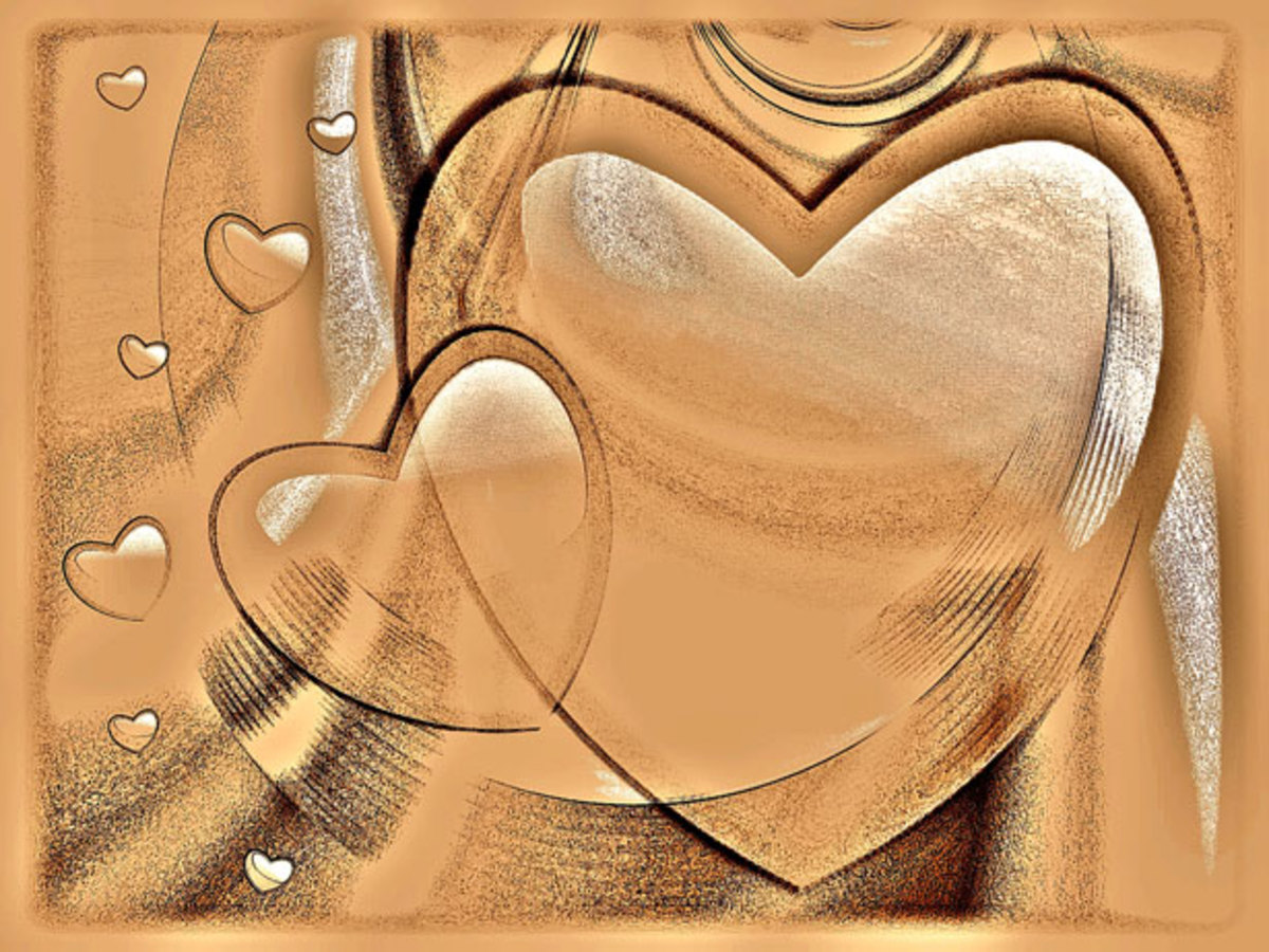 Golden Hearts Picture
