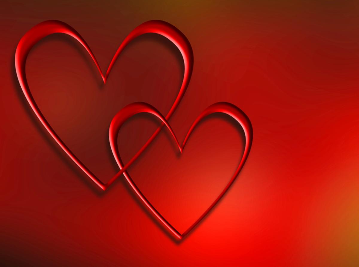 Interlocking Red Hearts Image