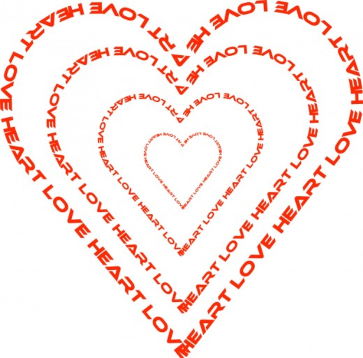 Love Word Heart Graphic