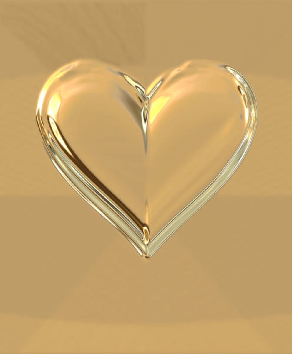 Gold Heart Picture
