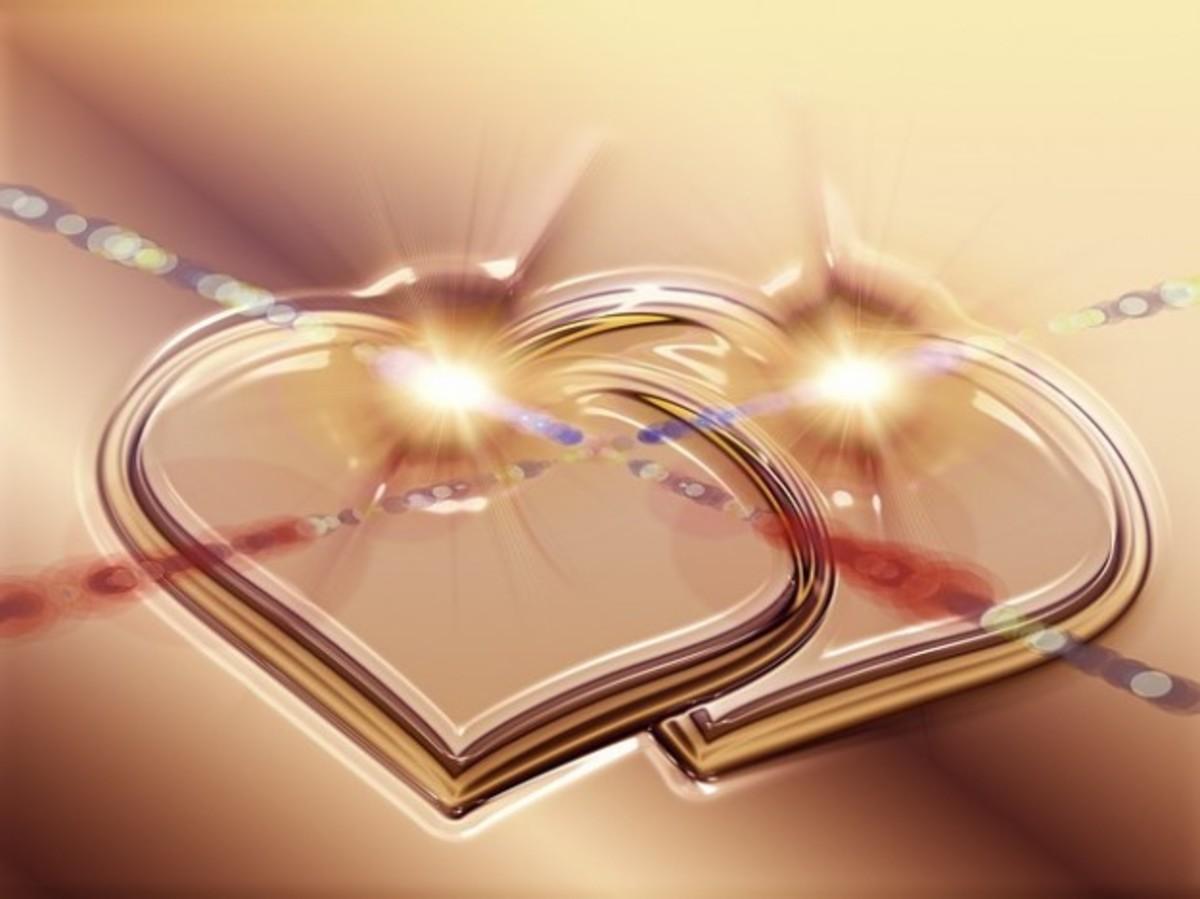 Golden Interlocking Hearts Picture