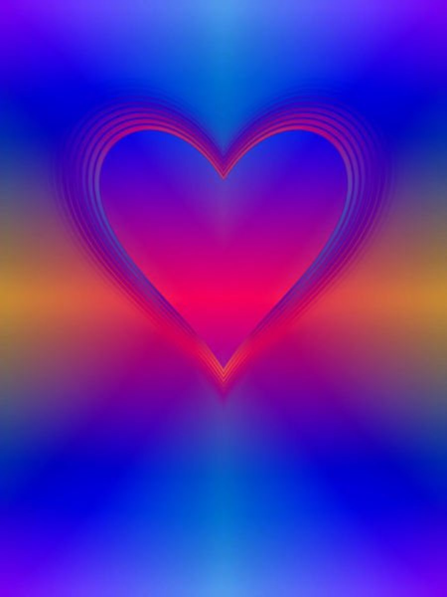 Heart with Ribbons of Light Image