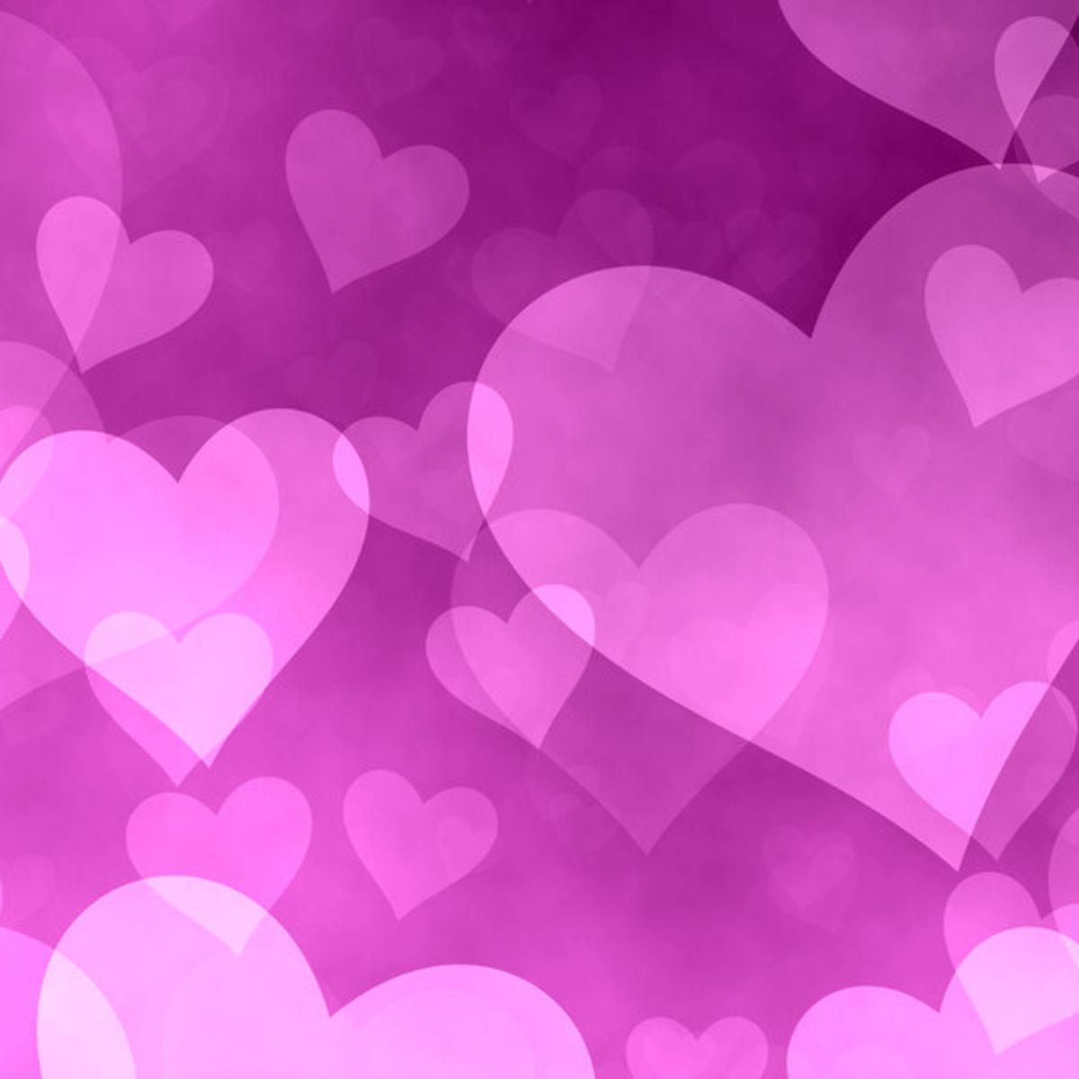 Lavender Heart Wallpaper