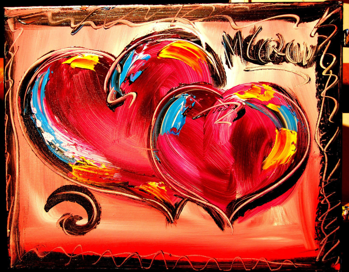 Two Hearts Oil Painting