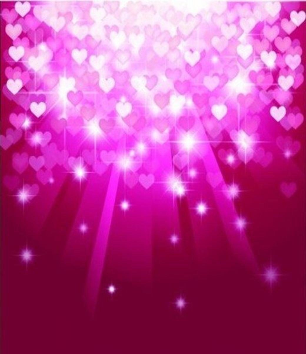 Shining Pink Hearts Wallpaper