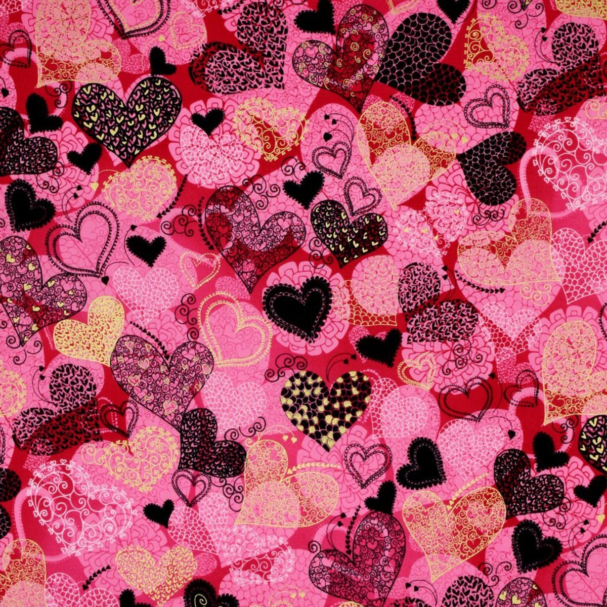 Patchwork Heart Pictures on Fabric