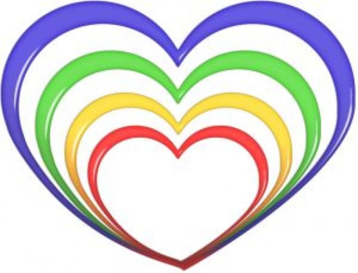 Rainbow Hearts Pattern