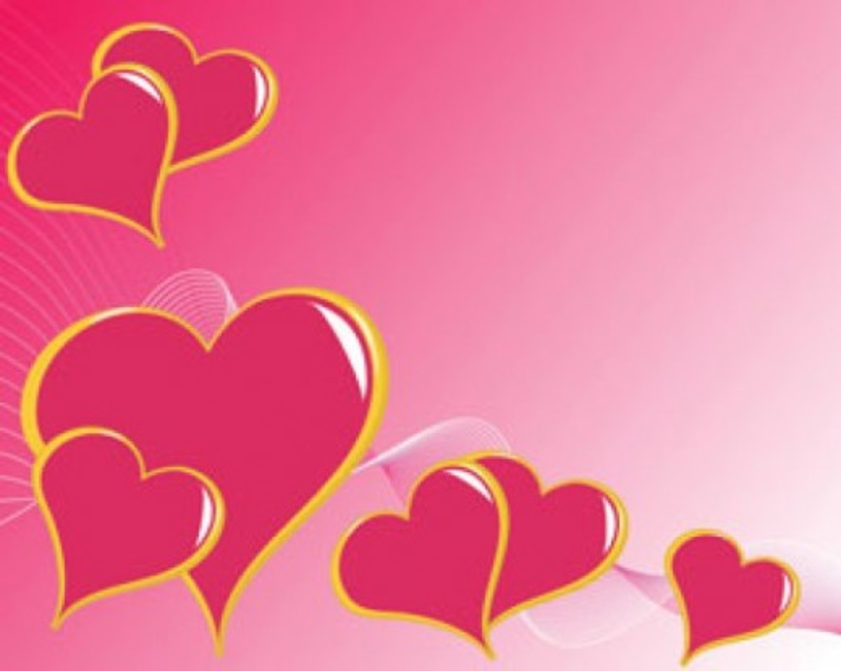 Pink Hearts Border Picture
