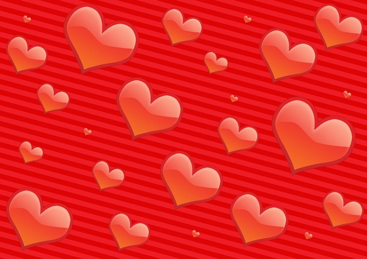 Red Hearts Wallpaper Image