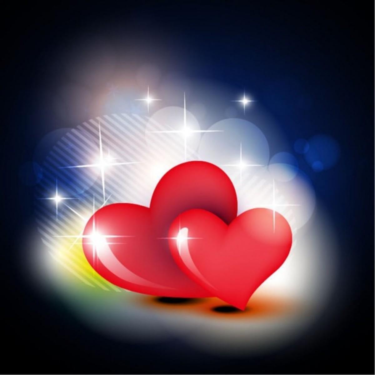 Red Hearts Pop Art