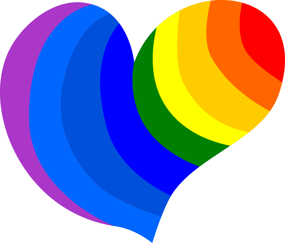 Rainbow Heart Design