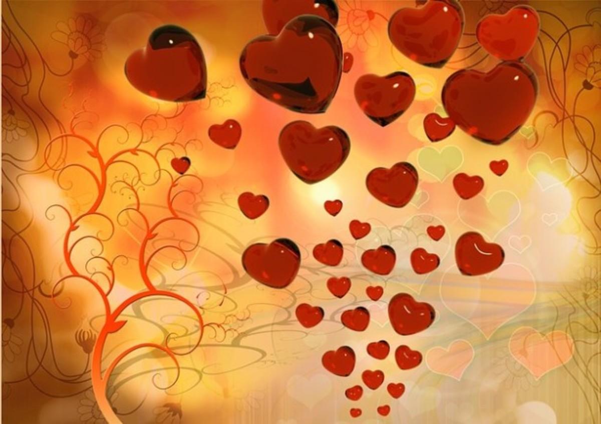 Tornado Red Heart Graphic Wallpaper