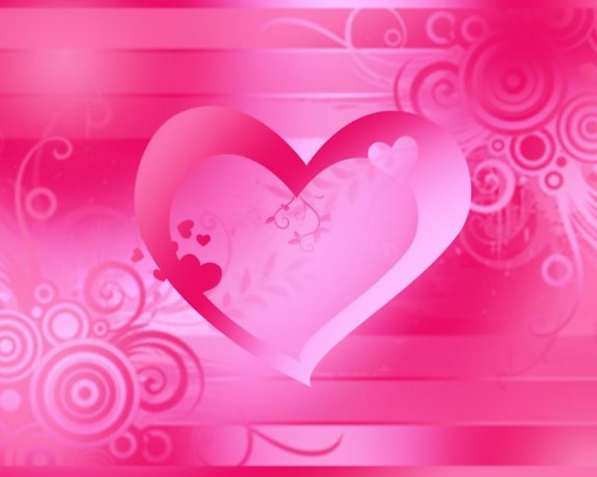 Large Pink Heart Picture