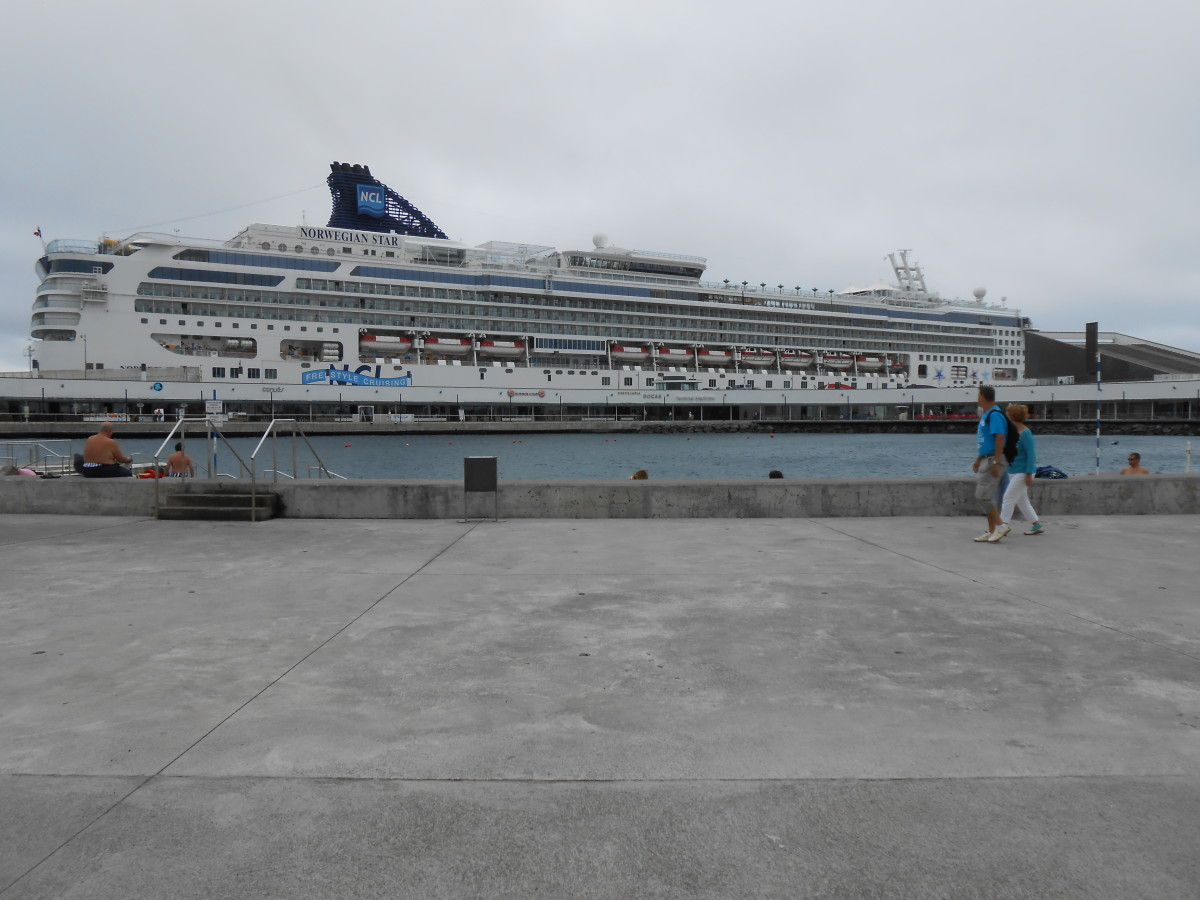 The Norwegian Star in the port of Ponta Delgada, the Azores ( Portugal)