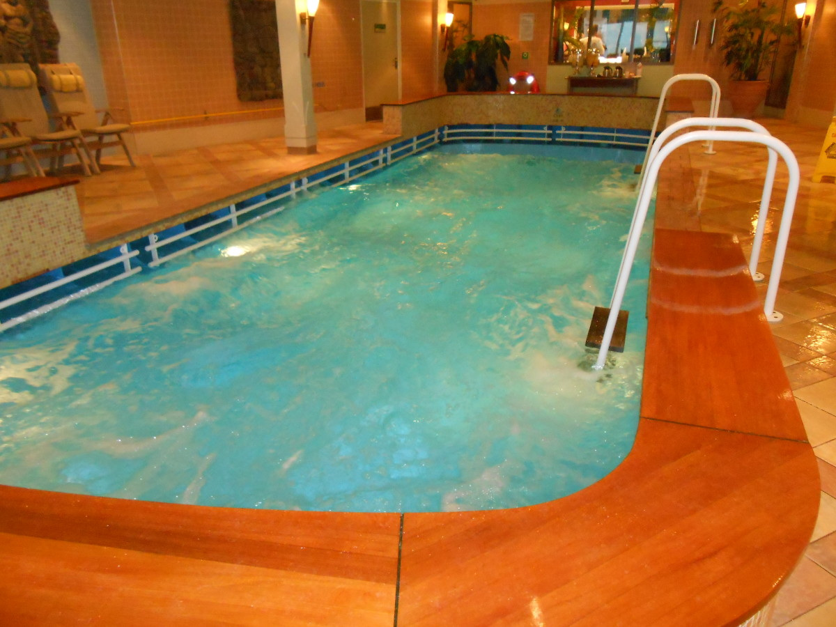 The lap pool in the spa