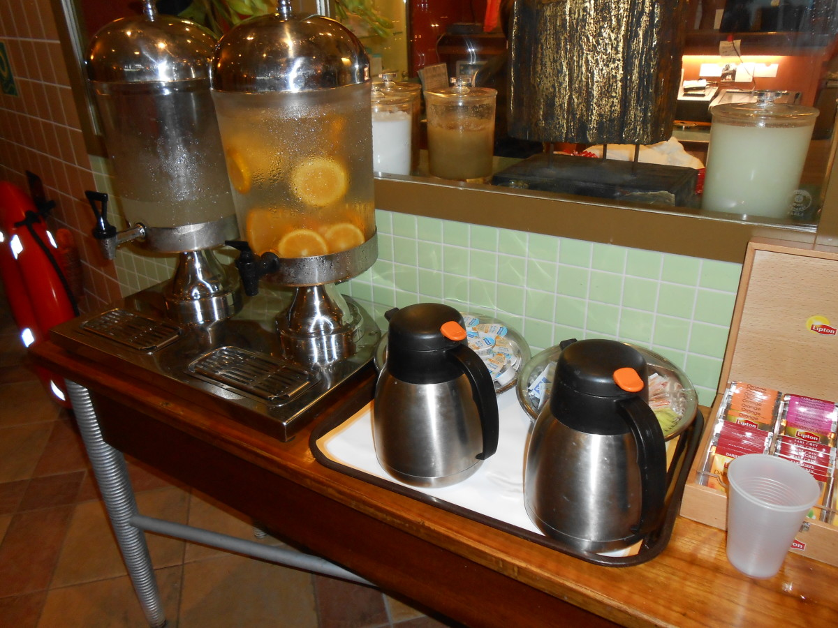 Refreshments for spa members