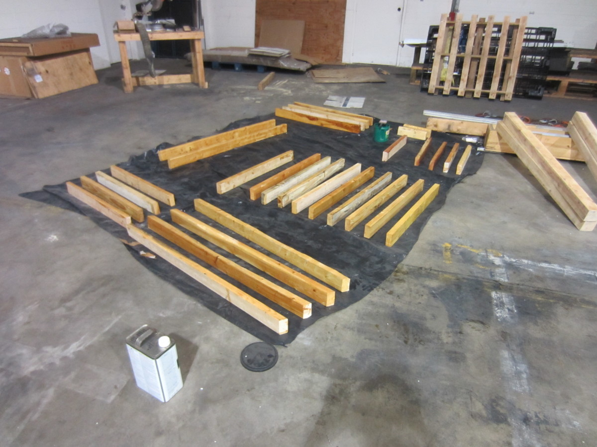 Laid out and ready to assemble.